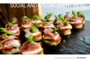 Social and Special Event Catering Menu