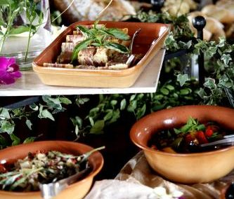 Mediterranean themed buffet from Arizona catering company, Creations in Cuisine Catering in Phoenix Arizona