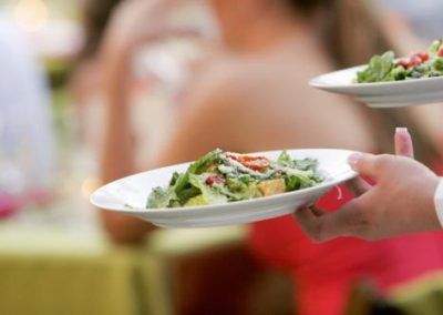 caesar salad served at catered arizona event