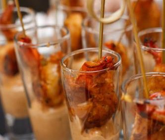 Arizona event catering shrimp shooter starters