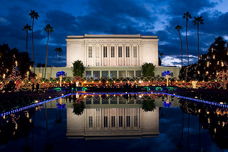 The Mormon Temple in Mesa, Arizona.