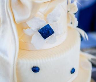 wedding reception catering ideas nautical themed wedding cake close up