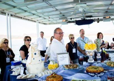 wedding reception ideas unique venues catering buffet boat with guests
