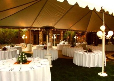 wedding reception ideas white wedding rental tables under tent