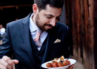 Creations in Cuisine Catering made sure Groom Austin was well fed at his Phoenix Wedding Day!