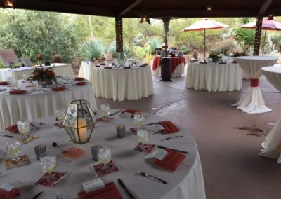 Desert Botanical Garden wedding reception tables